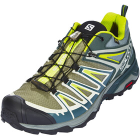 Salomon X Ultra 3 GTX Shoes Men Castor Gray/Darkest Spruce/Acid Lime